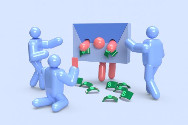 Illustration of debtor in stocks humiliated in public