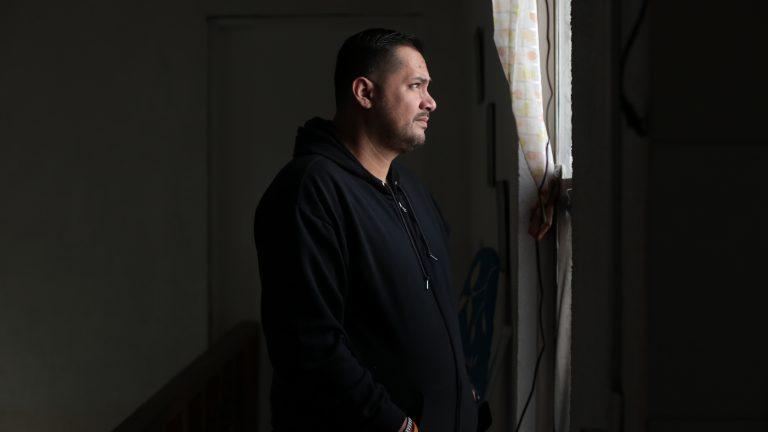 Mexican computer programmer Fernando Figueroa, is picture in his rented room in San Pedro Garza García, Nuevo León, México on March 20, 2021.