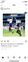 A meme posted on Instagram with Kuroña's visage superimposed on Maradona's infamous Hand of God goal from the 1986 World Cup, with google.com.ar labeled as the football and Google as the hapless English keeper.