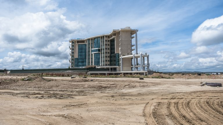 The ongoing development and construction at Konza City in Kenya. Photo by Brian Otieno for Rest of World.