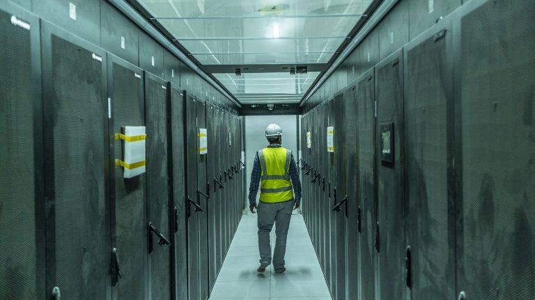 Inside the data center at Konza City. The ongoing development and construction at Konza City in Kenya. Photo by Brian Otieno for Rest of World.