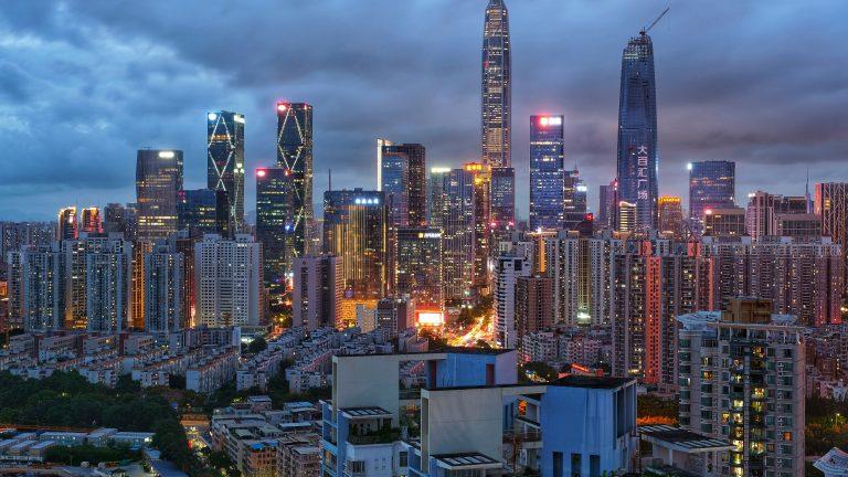 View of Shenzhen, China.