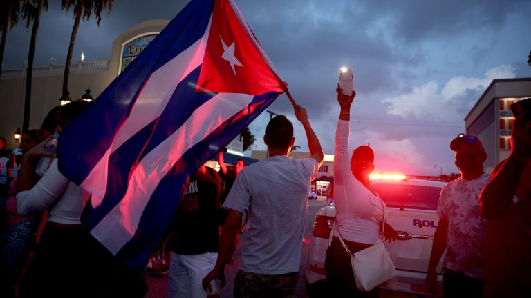 Miami's Little Havana Community Reacts To Protests In Cuba