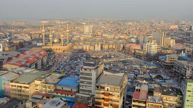 A view of Lagos, Nigeria.