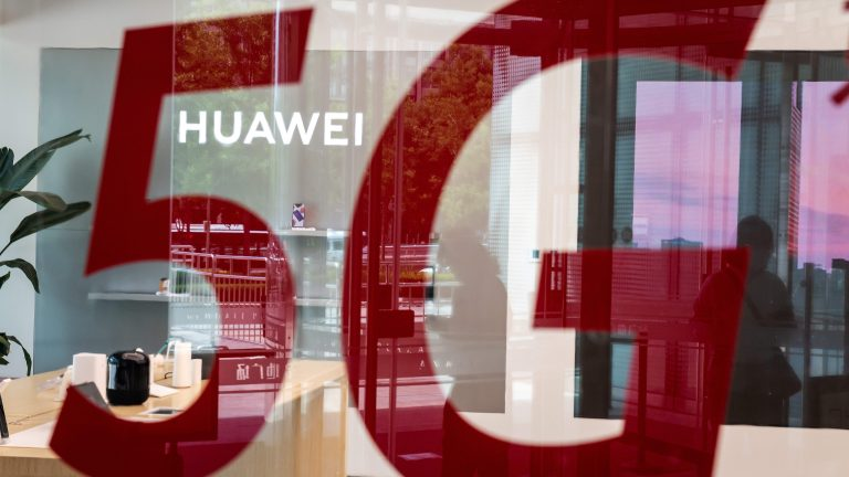 A shop for Chinese telecom giant Huawei.