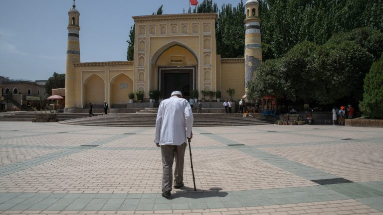 A mosque in Kashgar, China.
